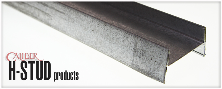 h-studs and track products from caliber metals